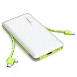 Carregador portátil Power Bank PINENG de 10000mah, Tipo C, V8 e iPhone