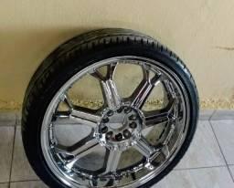 Aro 20 com pneus novos 225/35/20  leia a descrição