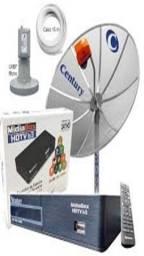 Kit Antena parabólica receptor digital Century Midia Box Smart C5 novo