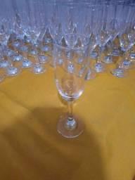 Tacas de champanhe  vidro