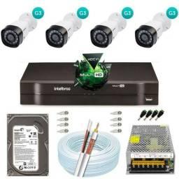 Kit intelbras 4 cameras 1400,00
