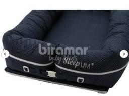 Berço | Bercinho Portátil Ninho P/ Bebê Sleep Um Poá Marinho