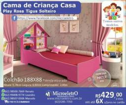 Cama Casa Play Rosa Tigus