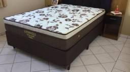 ;:;: Conjunto Cama Box Super Pocket Ortobom Colchão Casal 138x188 Confira