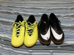 Chuteira Nike número 39 Chuteira Adidas 40