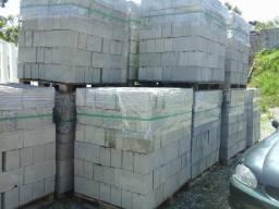 Laje e bloco de concreto