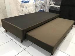 Título do anúncio: Base Box Solteiro com Cama Auxiliar Completa ( Bicama ) Solteiro 88x188x37 Nova!