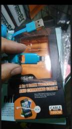 Cabo USB 2in1 Ifone e universal para Recarregar