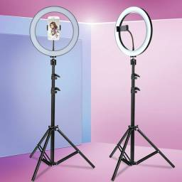 Iluminador RING LIGHT 26cm +  suporte central + Tripé  ??