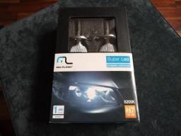Par de Lâmpadas Automotivas H7 Xenon Super LED, Multilaser. 6200k. Na Caixa Super Brancas