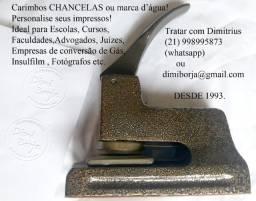 Carimbos Chancelas ou Marca D?Agua para documentos e insufilm