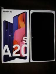Samsung Galaxy A20s Azul 32GB, Tela 6.5