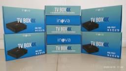 Tv box +4gb ram 32gb rom Android 9.0) queima estoque 230,00