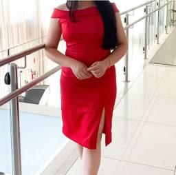 Vestido vermelho de tecido