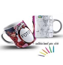 Canecas Personalizadas+ Canetinhas para colorir ( Infantil)