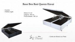 Base Baú Queen Bipartida Blindada Madeiras Laterais frete grátis