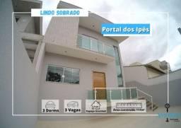 Casa com 3 dormitórios sendo 1 suíte no Portal dos Ipes em Cajamar
