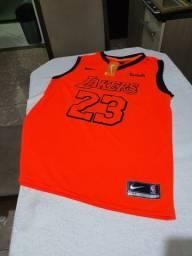 Camisa de basquete Los Angeles Lakers P e M