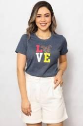 Camiseta - Mickey Love Glitter