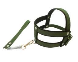 Peitoral de fita confortável e resistente regulagem fácil na cor verde