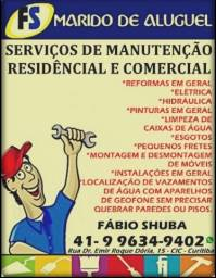 FS Marido de Aluguel - Encanador - Eletricista - Pintor - Pedreiro -Reformas