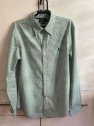 Camisa social Ralph Lauren - M slim fit - verde claro