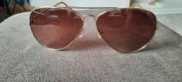 óculos de sol aviador em aço marron ? marca vivara
