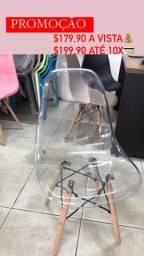 Cadeira eames cristal