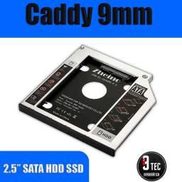 Adaptador Caddy SSD e HD Notebook Novo