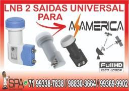 Lnb 2 Saidas Universal Banda Ku 4k Hd Lnbf Para Az America