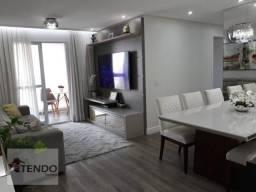 Apartamento com 3 dormitórios à venda, 88 m² por R$ 500.000 - Parque São Vicente - Mauá/SP