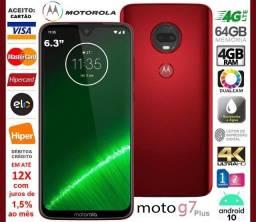"""Moto G7 Plus 64GB Octacore, 4GB Ram, Tela 6.3"""", Dual Cam 12MP, Novíss, Caixa, NF, Gar"""