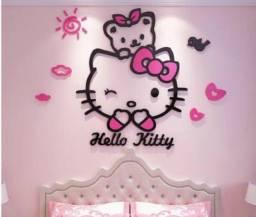 Hellokitty gato  3d para decoração de quarto de crianças