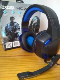 Fone Gamer Headset MB tech com LEDs