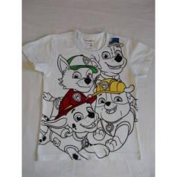 Camiseta Patrulha Canina (4 anos) - 10 reais cada