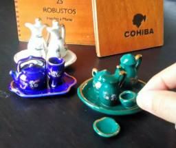 Kit Mini porcelanas entre 1970 e 1990.
