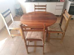 Conjunto madeira maciça