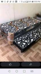 Oferta de aniversário -  cama box solteiro com auxiliar nova - frete grátis