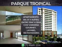 Parque Tropical, 3 e 4 suíte, entre 113 à 155m² com 2 ou 3vagas degaragem em Patamares