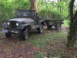 Jeep Militar 1969 com carreta militar bantan 1964 !