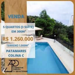 Oportunidade!!! Casa para venda em Patamares!!! 5/4, 3 suítes