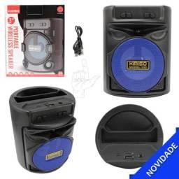 Mini Caixa de Som Portátil 3W Wireless Bluetooth Kimiso Kms-2183 Bluetooth USB sd FM