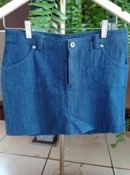 Saia jeans azul infantil