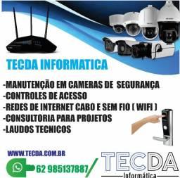 Manutenção de cameras de segurança wifi e controle de ponto