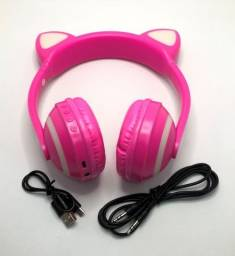 Headphone Orelha de Gato Led Bluetooth