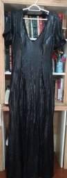 Vestido de festa paetê preto