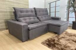 Sofá retrátil e reclinável Califórnia 2.20m - Super oferta somente hoje.