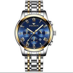 Relógio masculino Fngeen de luxo a prova d'água