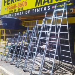 Escadas de Aço Galvanizado Reforçadas Extensiveis!!!
