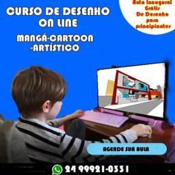 Curso de desenho : Magá, Cartoo, Artístico on line